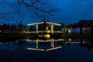 Ophaalbrug Nederlands Openluchtmuseum sur Ab Wubben