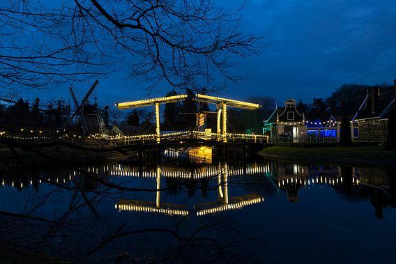 Ophaalbrug Nederlands Openluchtmuseum van Ab Wubben