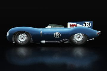 Jaguar Type D 1956 Vue latérale