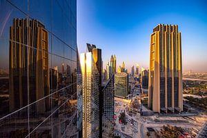 Dubai kantoorreflectie