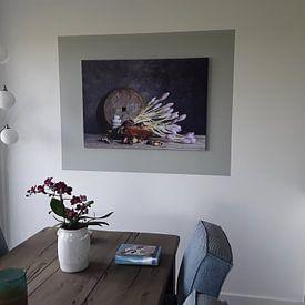 Klantfoto: Boeket met herfstkrokus van Affect Fotografie, op canvas