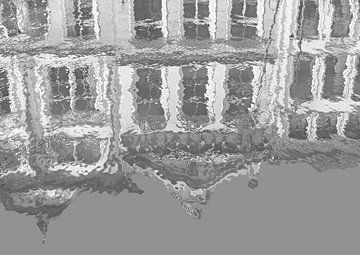 Glorreicher Gouda in Grau (Reflexions-Gouda in Grau und Weiß) von Caroline Lichthart