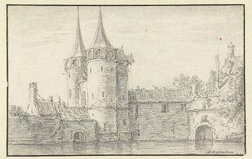 Oostpoort in Delft, Jan van Goyen