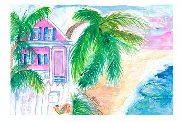 Key West Conch House en strand met Cock van Markus Bleichner