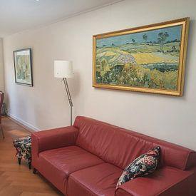 Klantfoto: De vlakte van Auvers, Vincent van Gogh, op canvas