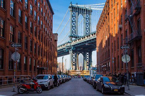 Brooklyn bridge vanaf Washingtonstreet