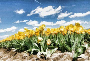 gele tulpen van Yvonne Blokland