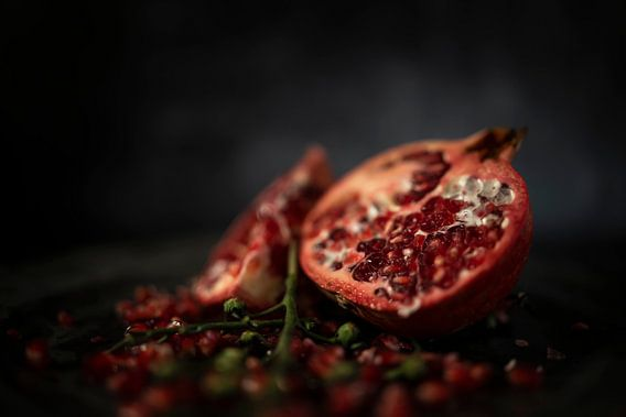 Stilleven granaatappel close up