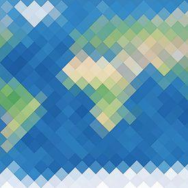 La carte du monde aux losanges sur Frans Blok