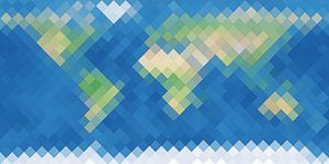 De Ruitenaardse Wereldkaart van Frans Blok