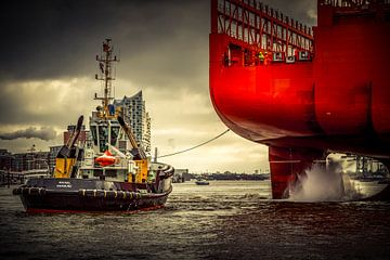 Duitsland, Hamburg, Elbe, Haven van Ingo Boelter