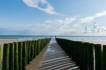 Crèche en mer, brise-lames à Soutelande sur Patrick Verhoef