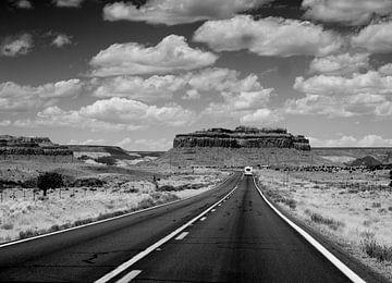 Op weg naar Monument Valley van