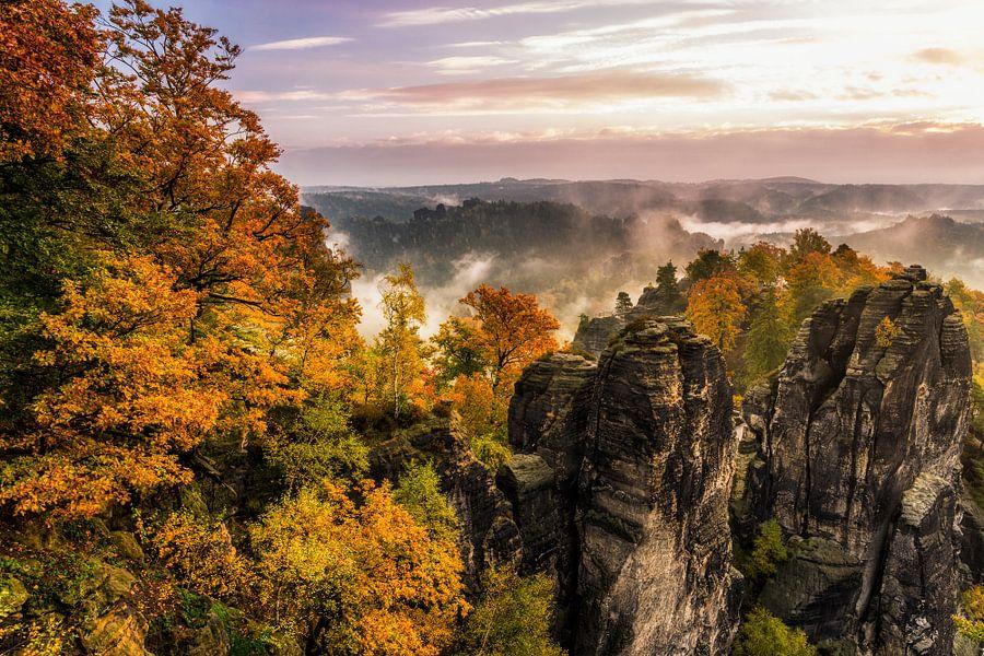 Herbstmorgen van Daniela Beyer