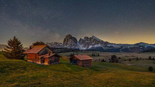 Alpe di Siusi - De Seiser Alm at night