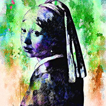 Meisje met de parel van PictureWork - Digital artist