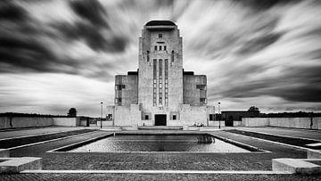 Radio Kootwijk in zwartwit van