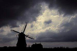 Wind en molen van Ton van Buuren