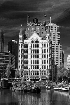 Weißes Haus Rotterdam schwarz / weiß von Anton de Zeeuw