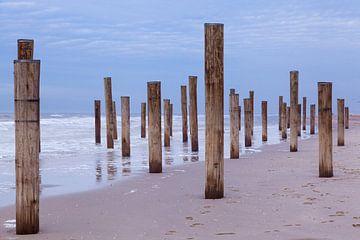 Kunst op het strand van Willy Sybesma