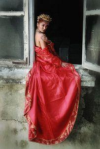 Lady in RED van Edwin van Unen