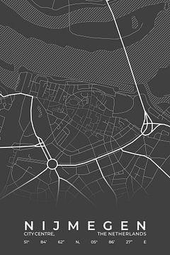 Stadtplan von Nijmegen von Walljar