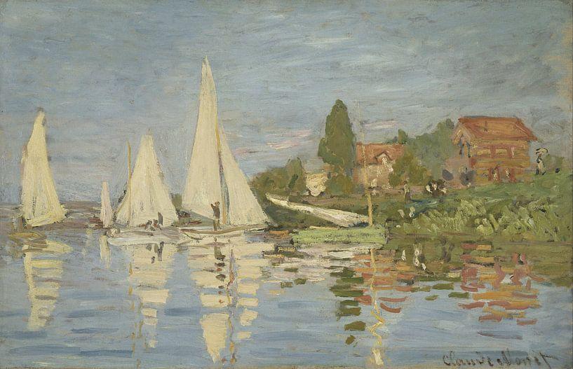 Claude Monet. Regatta in Argenteuil van 1000 Schilderijen