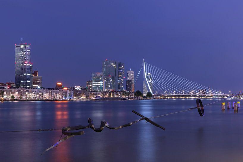 Het uitzicht op de Erasmusbrug, Wilhelminapier en het Noordereiland van MS Fotografie   Marc van der Stelt