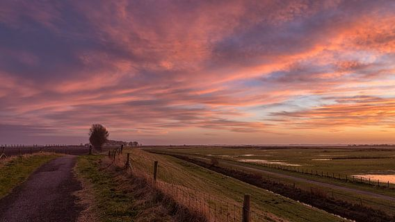 Kleuren van de ondergaande zon van Bram van Broekhoven
