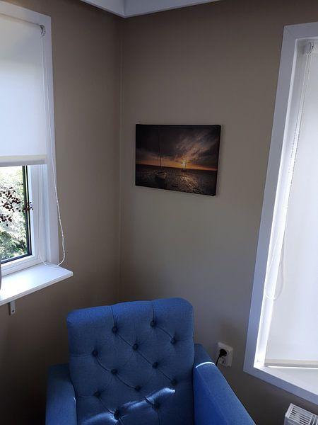 Klantfoto: Laatste zonlicht van Jan Koppelaar, op canvas