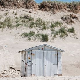 Strandhuisje op Texel van Map of Joy