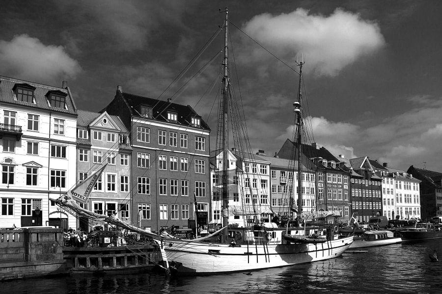 Kopenhagen, Nyhavn van mono chromie