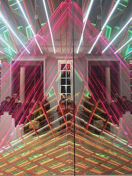 Christmas lighting & mirroring van René van Stekelenborg