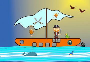 Kinderzimmerbild  -  Der Pirat sur Rosi Lorz