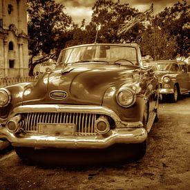 Oldtimer Kabriolet in Havann Kuba mit Sepia Tonung von Dieter Walther