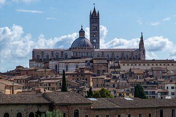 Sienna en haar kathedraal, Toscane, Italië van Discover Dutch Nature