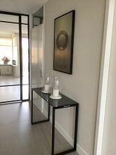 Klantfoto: stilleven glas 2 van Alie Ekkelenkamp, op canvas
