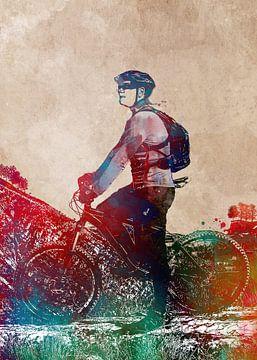 Radsport Fahrradsport Kunst von JBJart Justyna Jaszke