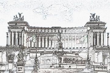 Monumento Nazionale a Vittorio Emanuele II, Rome van Gunter Kirsch