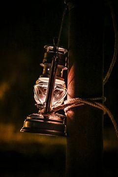 Olielamp avondfotografie