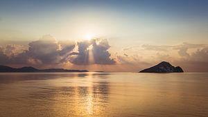Zonsopkomst Zakynthos Griekenland van Jacqueline Kroezen