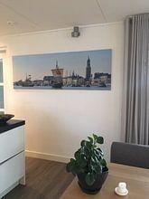 Klantfoto: Kamper Kogge historische zeilboot op de IJssel in Kampen van Sjoerd van der Wal, op canvas