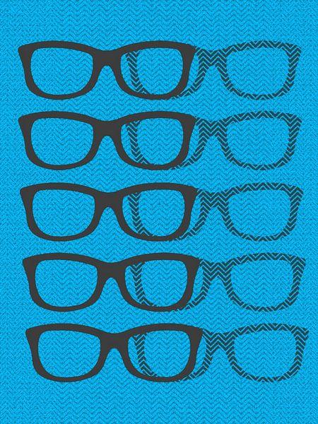 Glasses Black & Blue2 van Mr and Mrs Quirynen