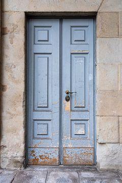 Blauwe Italiaanse deur van Chantal Koster