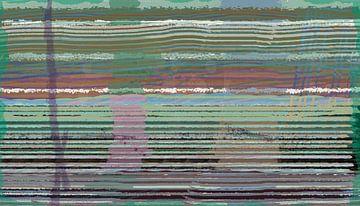 Streepjescode in kleur. Abstract in groen. van Rietje Bulthuis