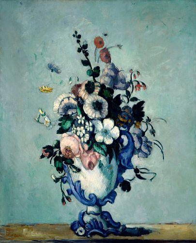 Bloemen in een Rococo Vaas, Paul Cezanne