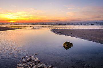 Sonnenuntergang in Koksijde von Johan Vanbockryck