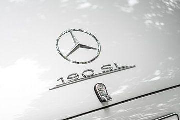 Mercedes Benz 190 SL - détail d'une voiture de sport classique sur Sjoerd van der Wal