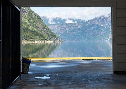 view on the eidfjord norway