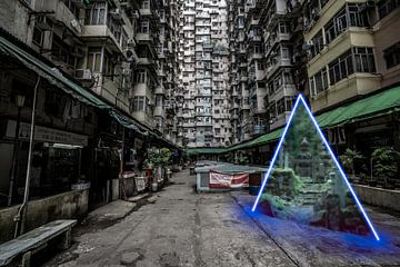 Portal von der Stadt zum mystischen Wald von Mickéle Godderis